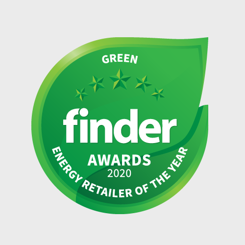 We've even been recognised as Australia's greenest power company by Finder in 2020 and three years running by Greenpeace.